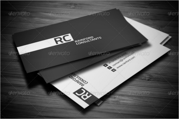 Old Black & White Business Card Design