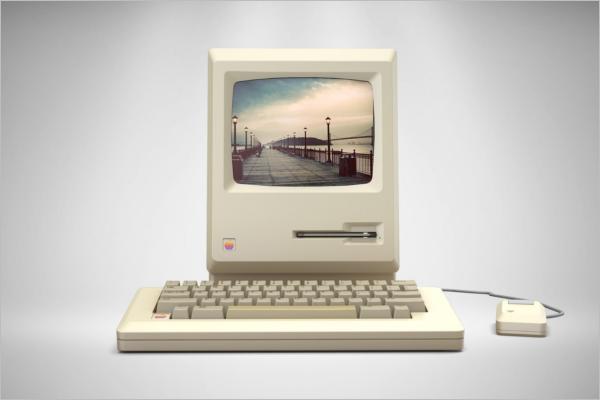 Old Computer Mockup Design