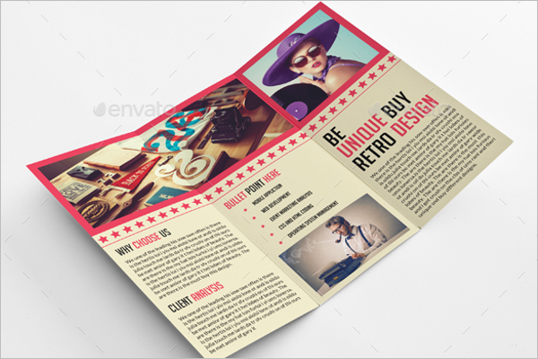 fashion brochure template - old fashion brochure template