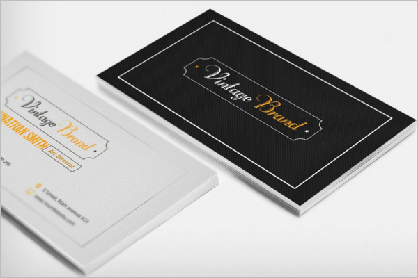 Old Style Business Card Template
