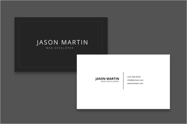Old Web Developer Business Card Template