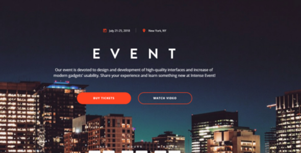 One Page Blog Theme