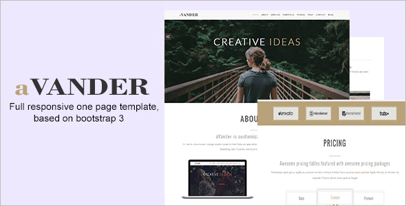 One Page DesignBootstrap Template