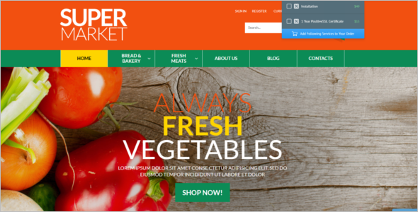 Online Website VirtueMart Template