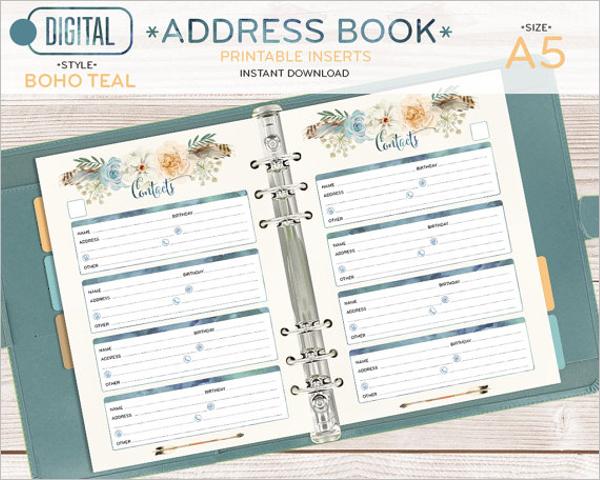 Open Address Book Template
