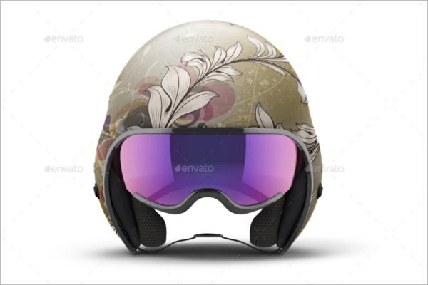 Open Face Helmet Mockup