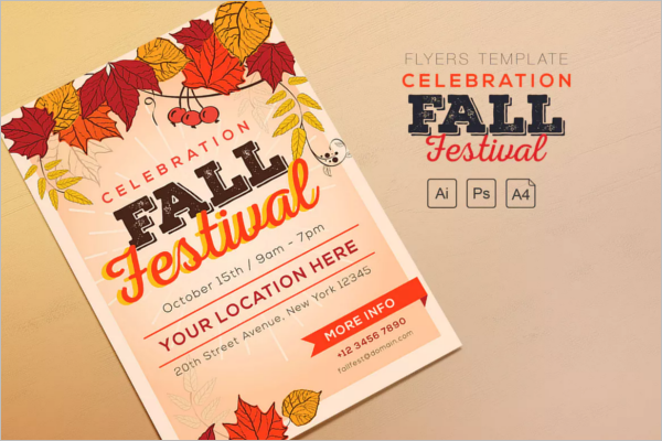 Orange Fall Flyer Template