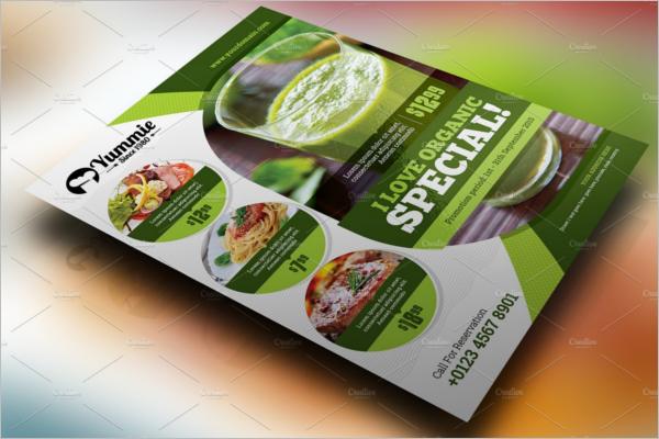 Organic Food Restaurant Design Flyer