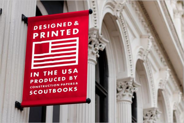 Outdoor Banner Mockup Printed Design