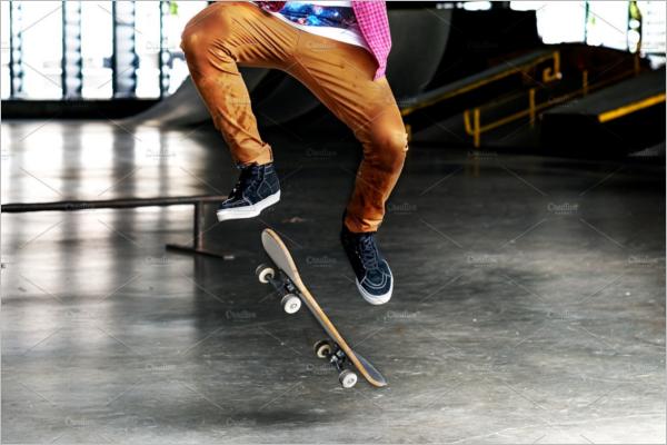 Outdoor Skateboard Mockup Design