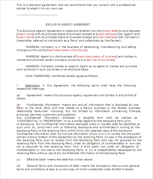 Owner Agreement Form PDF