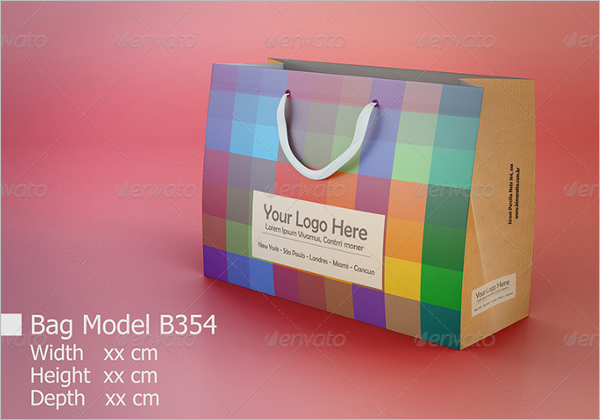PAck Of Paper Bag Mockup Design