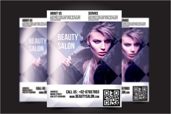 PSD Beauty Salon Flyer Template