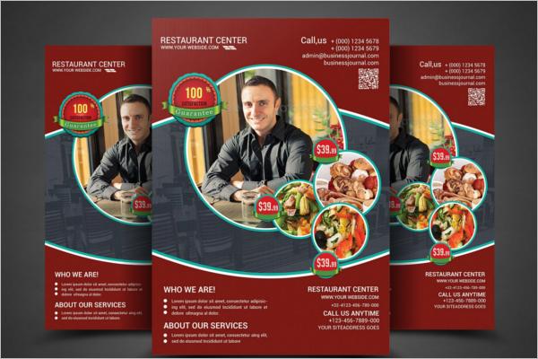 PSD Restaurant Flyer Design