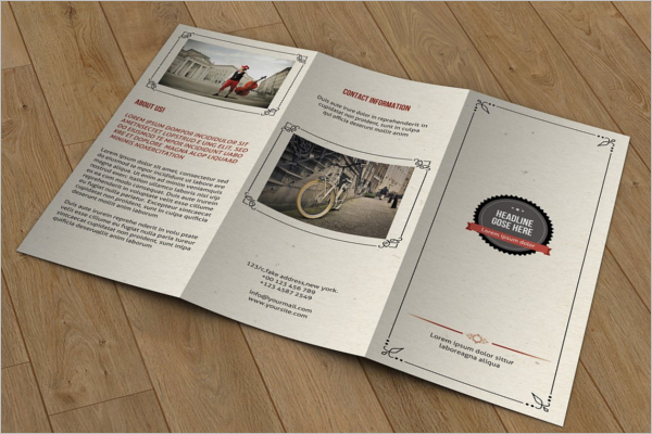 PSD Retro Brochure Template