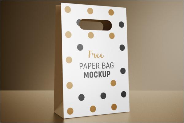 Paper Bag Mockup Free Download