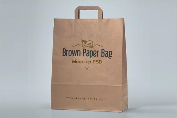 Paper Bag Mockup Template PSD Free