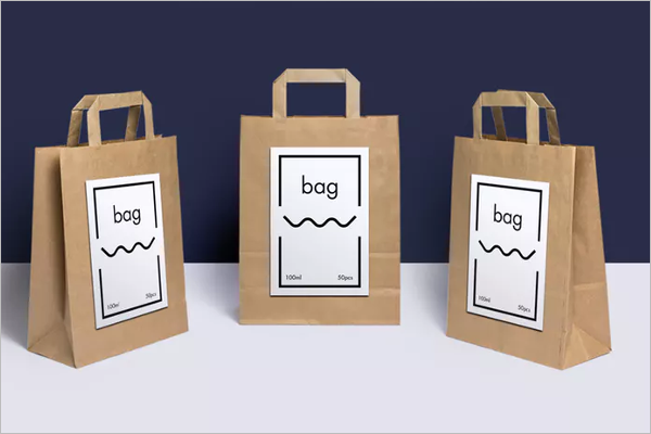 Paper Bag Mockup Template PSD