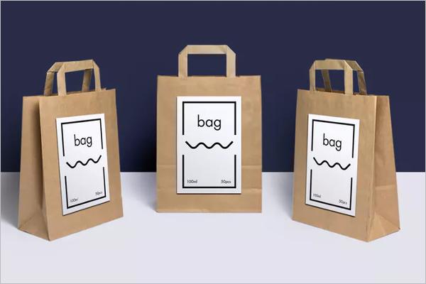 Paper Bag Mockup Template PSD