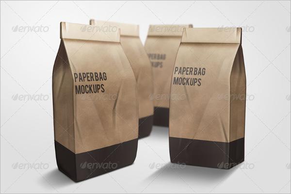 Paper Bag Mockup Template