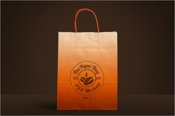 Paper Bag PSD Mockup Download