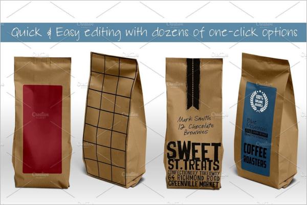 Paper Bag Packaging Mockup Design