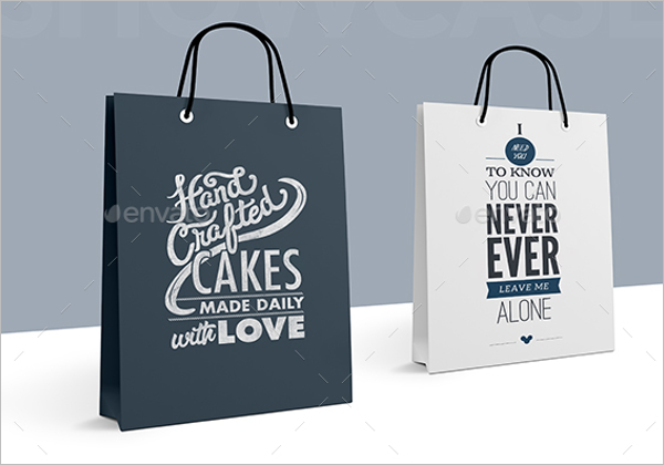 Paper Bag Photoshop  Mockup Design