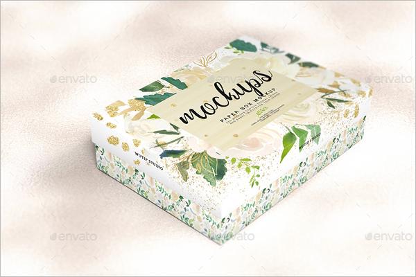 Paper Box Mockup PSD