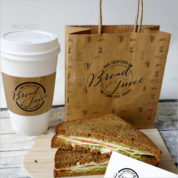 Paper Coffee Bag Mockup Design