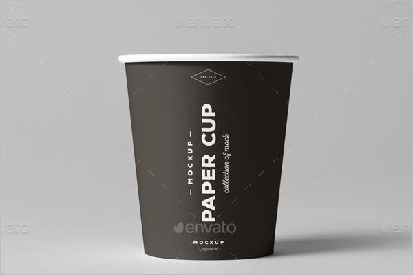 Paper Cup Mockup PSD Design
