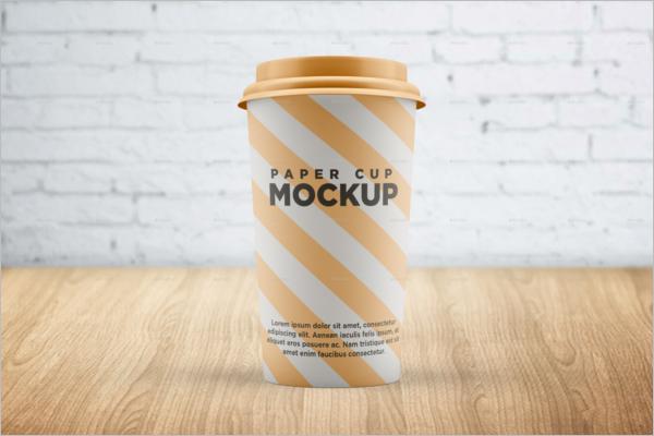 Paper Cup Mockup Photoshop Design