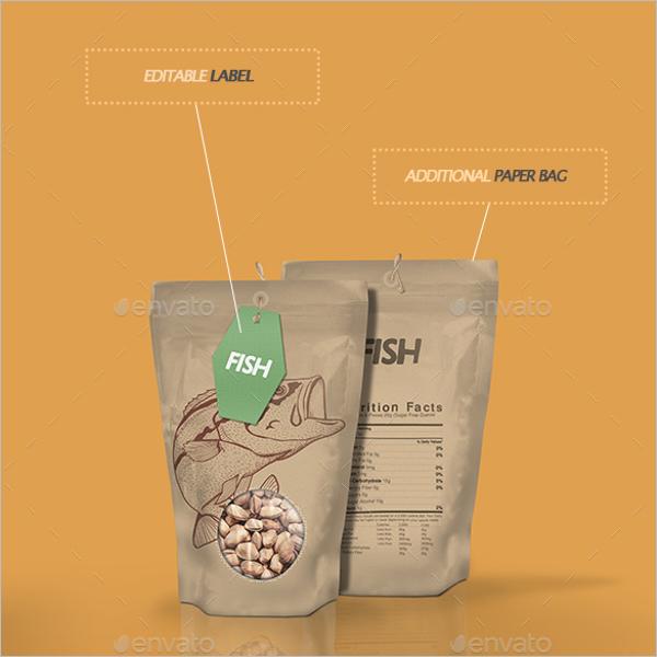 Paper Foil Bag Mockup Design