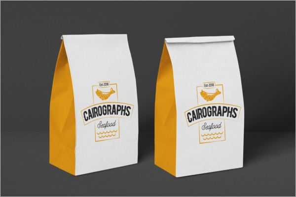 Paper Food Bag Mockup Design