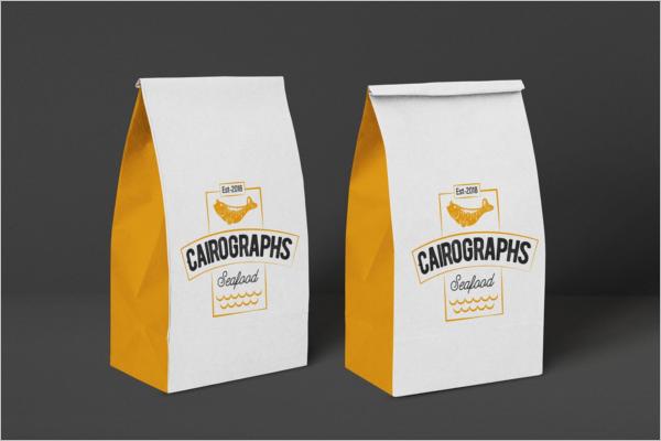 Paper Food Bag Mockup Design