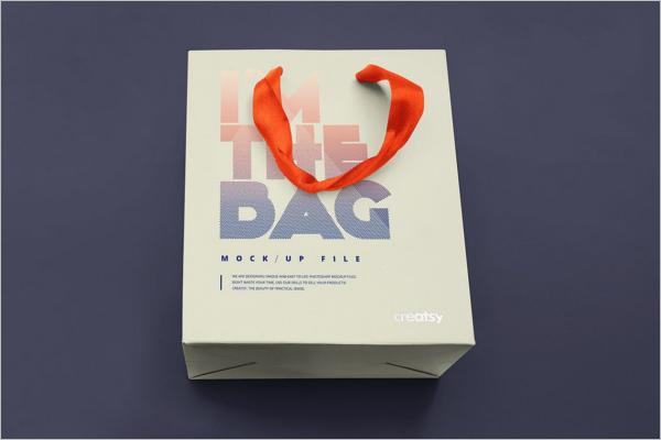 Paper Gift Bag Mockup Set