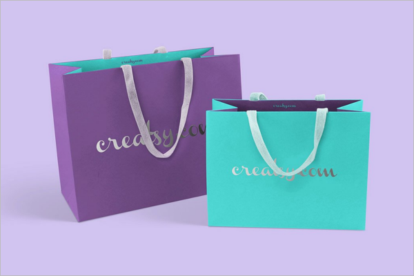 Paper Shopping Bag Mockup Design