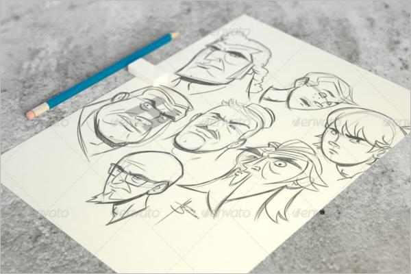 Paper Sketch Mockup Template