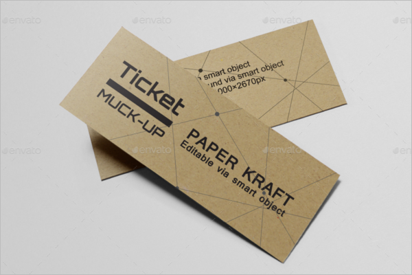 Paper Ticket Mockup Design