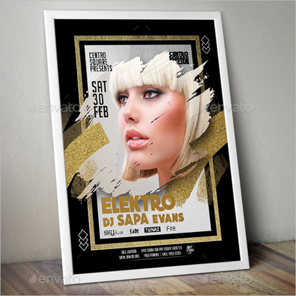 Party Fashion Poster Template