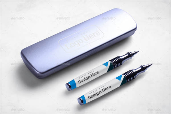 Pen Box Mockup Design