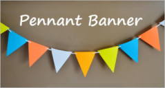 Pennant Banner Templates