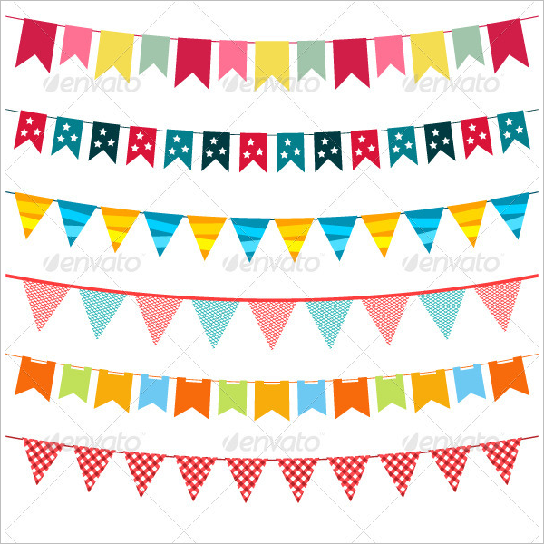 Pennant Party Banner Template