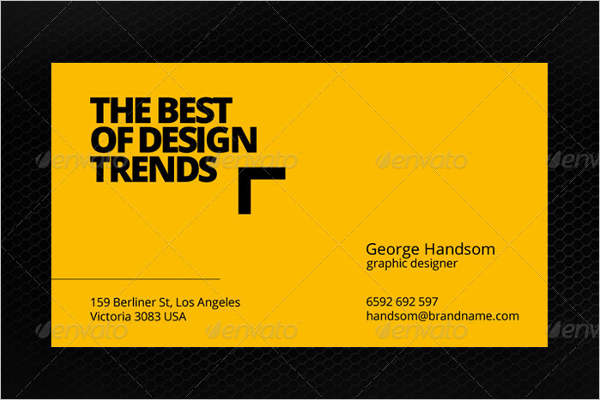 Personal Yellow Business Card Template