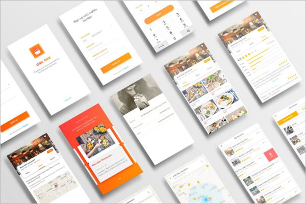 Perspective App Screen Mockup Design