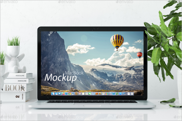 PhotoRealistic Macbook Mockup Design