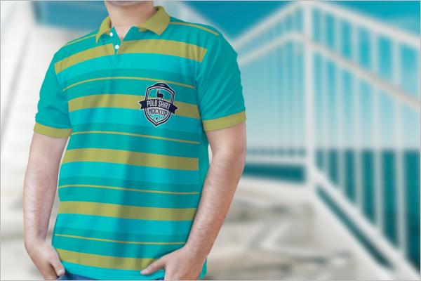 PhotoRealistic Polo t-Shirt Mockup