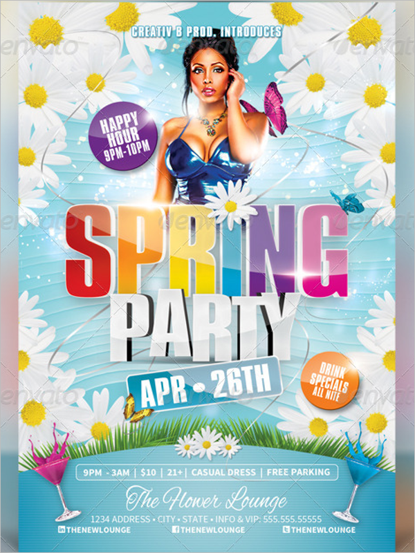 PhotoRealistic Spring Flyer Template