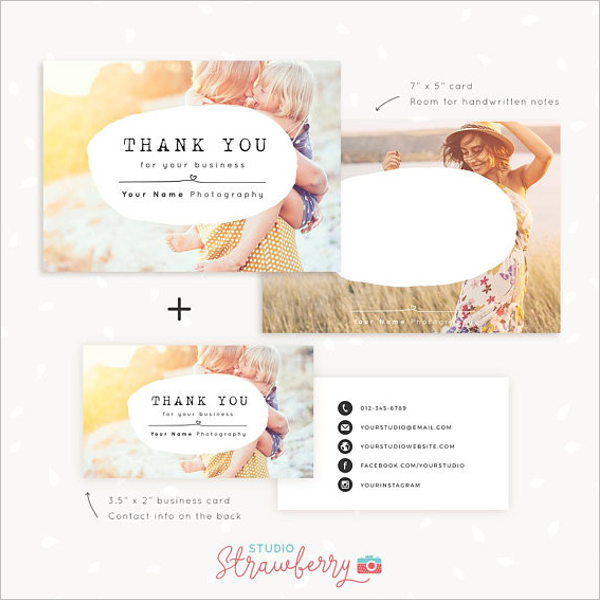 Photography Business Thank You Card Template