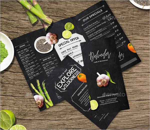 Photorealistic A4 Menu Design