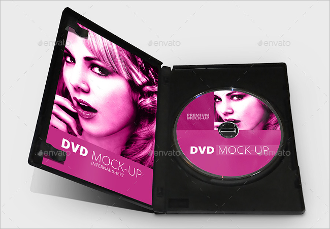 Photorealistic CD Cover Mockup Design